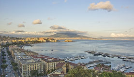 Panorama of Naples bay Stock Images