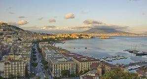 Panorama of Naples bay Stock Photos