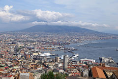 Panorama of Naples. Stock Photos
