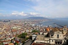 Panorama of Naples. Stock Image