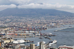Panorama of Naples. Royalty Free Stock Images