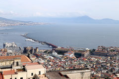Panorama of Naples. Stock Photos