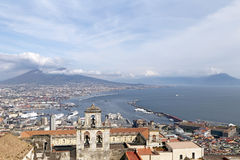Panorama of Naples. Royalty Free Stock Photo