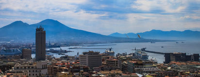 Panorama of Naples, Italy. Royalty Free Stock Photography
