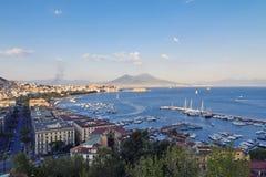 Panorama of Naples Royalty Free Stock Photos