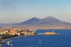 Panorama of Naples Stock Images