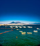 Panorama of Naples, view of the port in the Gulf of Naples, Stock Photography