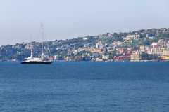 Panorama of Naples, view of Posillipo, Stock Images