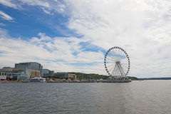 Panorama of National Harbor with Ferris on the pier, Maryland, USA. Stock Images