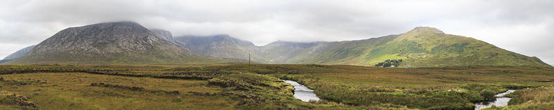 Panorama of National park Connemara. Stock Images