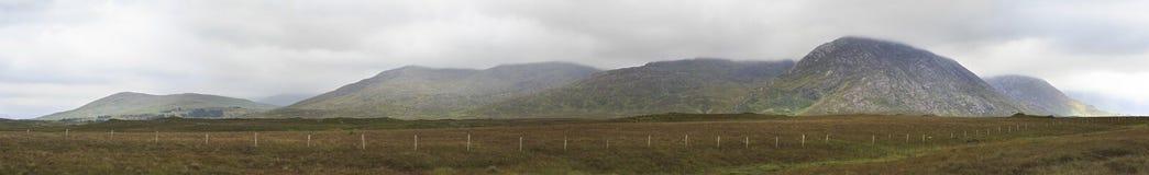 Panorama of National park Connemara. Stock Photo