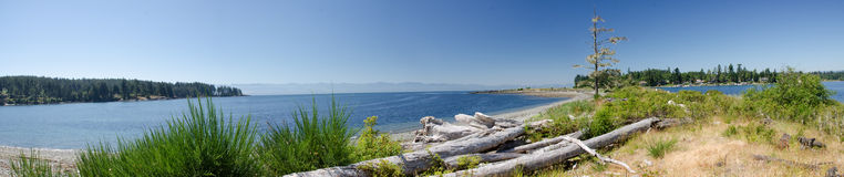 Panorama of a natural spit Royalty Free Stock Photography