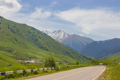 Panorama of the nature and mountains of the Kaskelen gorge in Al Royalty Free Stock Photos