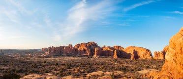 Panorama naturel de monuments en parc national de voûtes Photos stock