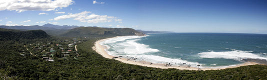 Panorama Natures Valley beach, Tsitsikamma Stock Photography