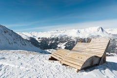 Panorama Nauders de la montaña Fotos de archivo libres de regalías