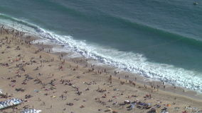 Panorama of Nazare, Portugal stock video
