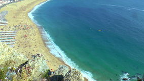 Panorama of Nazare, Portugal stock footage
