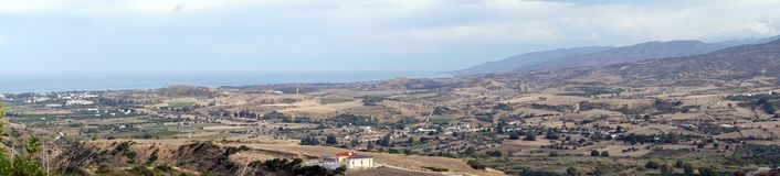 Panorama near Polis. Panorama of farm fields near Polis in Cyprus Stock Photos