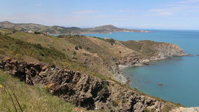 Panorama near the town of Banyuls sur Mer Stock Photography