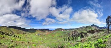 Panorama near Voclano Teide Tenerife, Canarian Islands Royalty Free Stock Photos