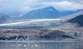 Panorama negro del glaciar Imagenes de archivo
