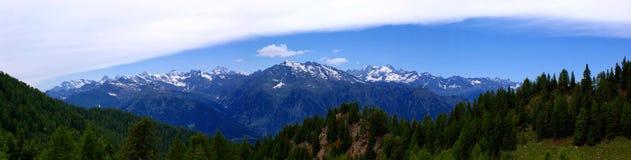 Panorama nel Tirolo del sud, Italia Fotografia Stock Libera da Diritti