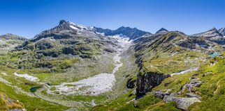 Panorama nell'alto parco nazionale di Tauern, Au del paesaggio della montagna Immagine Stock Libera da Diritti