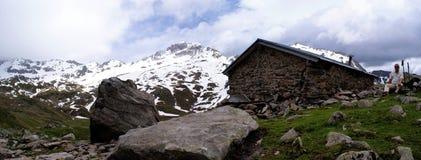 Panorama nelle alpi di Stubai nel Tirolo del sud Immagini Stock Libere da Diritti