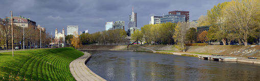 Panorama Neris river Royalty Free Stock Photography