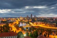 Panorama-neue Mitte von Vilnius, Litauen stockfotos
