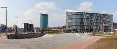 Panorama of the new business center Royalty Free Stock Photography
