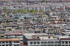 Panorama of the new city of Lhasa, Tibet Stock Photography