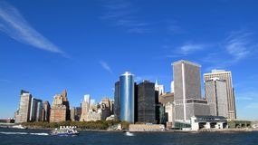 Panorama of New York stock image