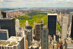 Panorama of New York and Central Park Stock Image
