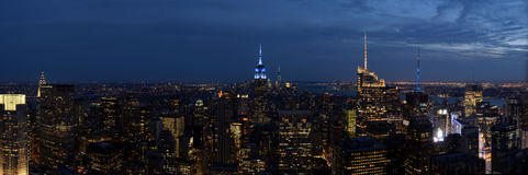 Panorama of New York City Royalty Free Stock Image