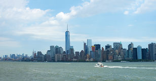 Panorama- New York City, panorama Royaltyfri Foto