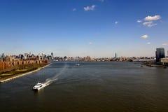 Panorama New- York Cityeast river lizenzfreies stockfoto