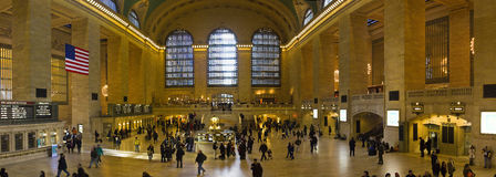 Panorama of New York Grand Central Station in Manhattan Stock Images