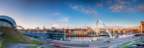 Panorama of Newcastle Quayside Royalty Free Stock Photo