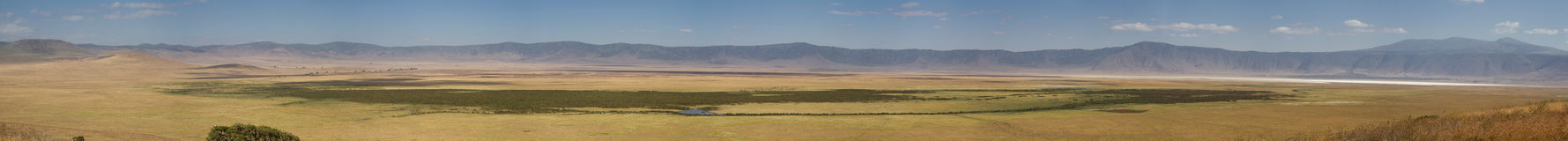 Panorama of the Ngorongoro crater Royalty Free Stock Images