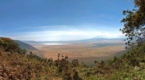 Panorama of Ngorongoro Crater Stock Photo