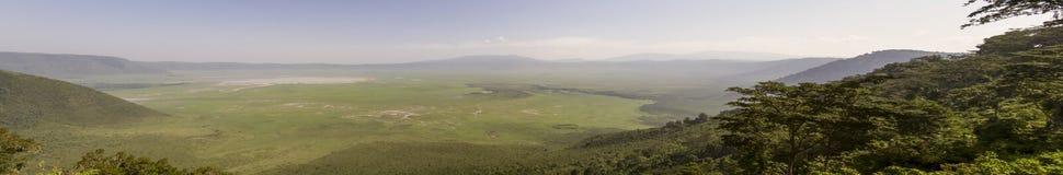 Panorama Ngorongoro krater, Tanzania fotografia royalty free