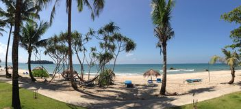 Panorama from Ngwe Saung Beach Stock Photography