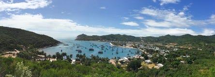 Panorama of Nha Trang seascape, southern Vietnam Stock Image