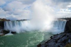 Panorama of Niagara Falls. From Canadian bank Stock Photography