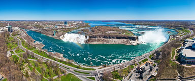 Panorama of the Niagara Falls Stock Photography