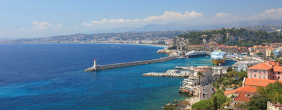 Panorama of Nice. royalty free stock photography