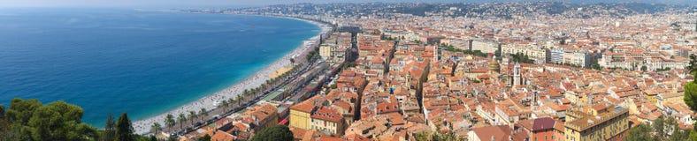 Panorama of Nice Royalty Free Stock Photos