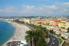 Panorama of Nice Royalty Free Stock Images